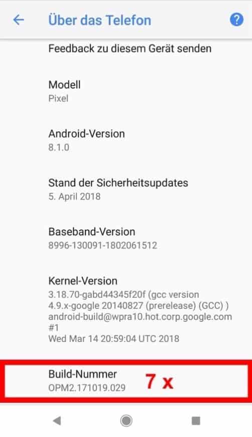 Graustufen auf Android Schritt 3