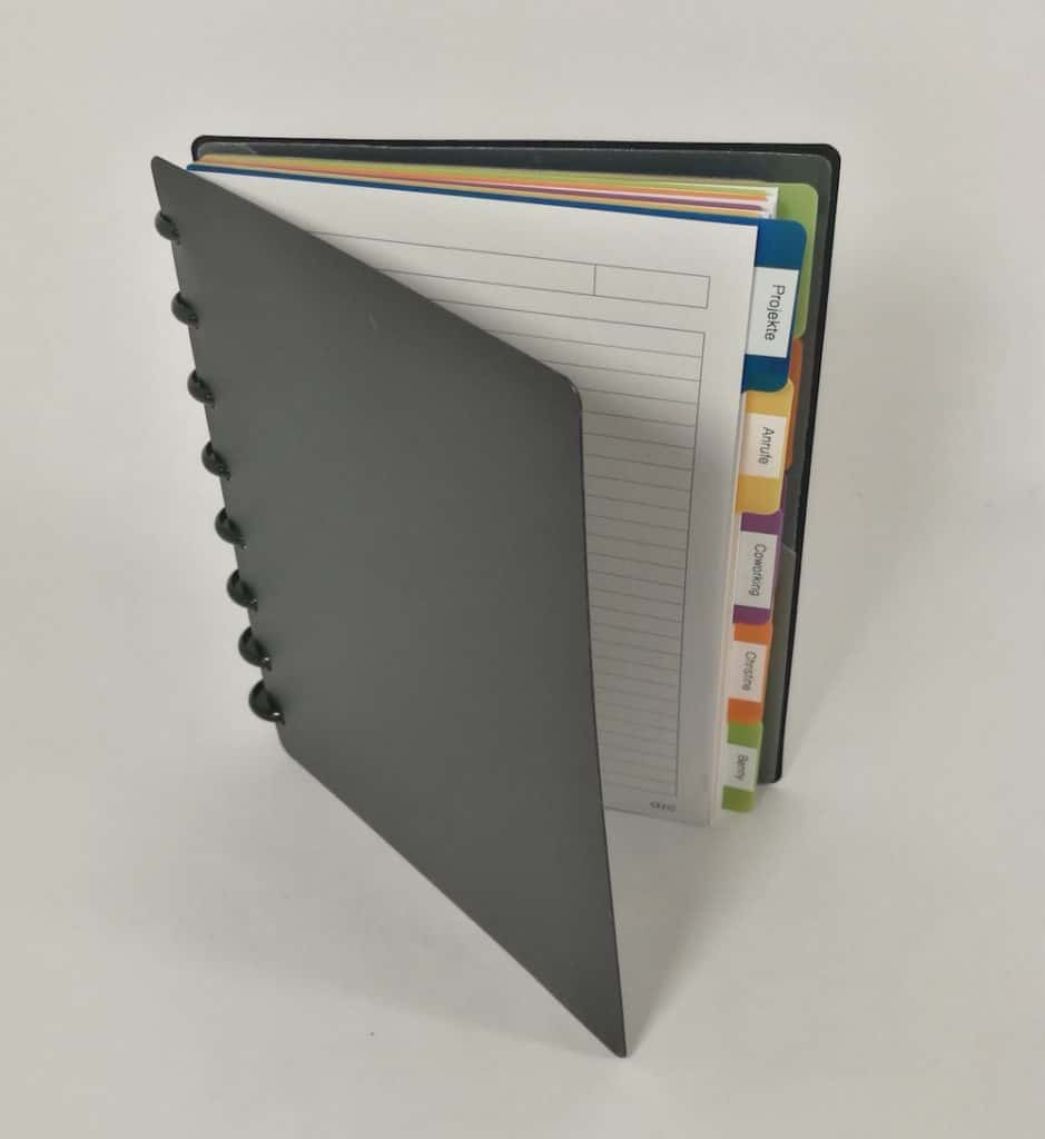So sieht ein GTD-Papiersystem aus, das unserer Empfehlung entspricht.
