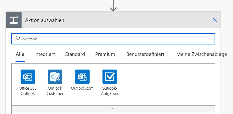 Outlook-Aufgaben wählen!